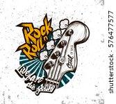 hand drawn rock festival poster.... | Shutterstock .eps vector #576477577