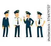 pilots in uniform. vector... | Shutterstock .eps vector #576479737