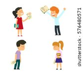children who have received... | Shutterstock .eps vector #576480571