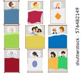 people are sleeping in their... | Shutterstock .eps vector #576482149