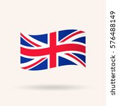 united kingdom or britain flag. ... | Shutterstock .eps vector #576488149