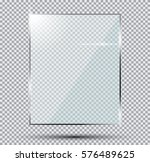 glass plate isolated on... | Shutterstock . vector #576489625