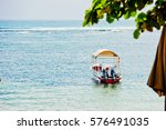 Small photo of Absenteeism boat in the Bay of Sanur. Bali, Indonesia.