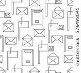 seamless pattern with mail... | Shutterstock .eps vector #576493045