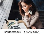 Young Woman Holding Credit Card ...