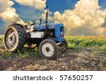 Very Old Tractor In Field ...