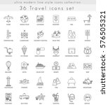 travel ultra modern outline... | Shutterstock . vector #576505321
