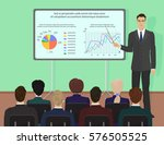 businessman expert giving... | Shutterstock . vector #576505525