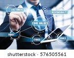core values responsibility... | Shutterstock . vector #576505561
