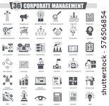corporate managment black icon ... | Shutterstock . vector #576506854