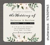 modern vintage save the date ... | Shutterstock .eps vector #576509965
