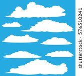 clouds vector collection... | Shutterstock .eps vector #576510241