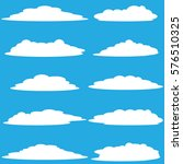 clouds vector collection... | Shutterstock .eps vector #576510325