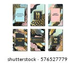 set of creative universal cards ... | Shutterstock .eps vector #576527779