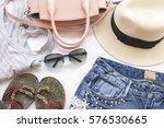 accessories fashion colorful... | Shutterstock . vector #576530665