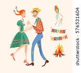 brazilian holiday festa junina  ... | Shutterstock .eps vector #576531604