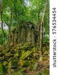cambodian ruins   beng melea  ... | Shutterstock . vector #576534454