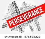 perseverance word cloud collage ... | Shutterstock .eps vector #576535321