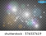 lights on transparent... | Shutterstock .eps vector #576537619