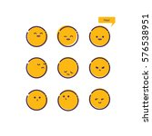 set of emoticons. set of emoji. ... | Shutterstock .eps vector #576538951
