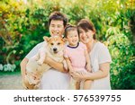 portrait of asian family ... | Shutterstock . vector #576539755