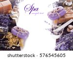 soap and lavender flowers | Shutterstock . vector #576545605