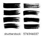 set of hand drawn black paint ...   Shutterstock .eps vector #576546037