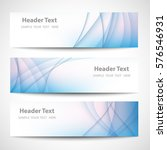 abstract header blue wave white ... | Shutterstock .eps vector #576546931