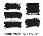 set of universal grunge black... | Shutterstock .eps vector #576547054