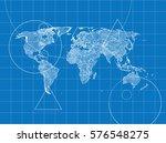 blueprint of world | Shutterstock . vector #576548275
