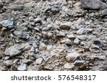 Rock And Gravel Wall Texture In ...