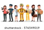 people of different professions.... | Shutterstock .eps vector #576549019