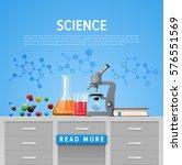 modern tool set of chemistry.... | Shutterstock .eps vector #576551569