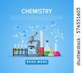 modern tool set of chemistry.... | Shutterstock .eps vector #576551605
