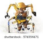 building tools and equipment... | Shutterstock . vector #576554671