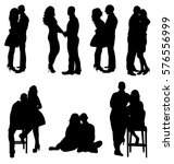isolated collection of lovers...   Shutterstock .eps vector #576556999