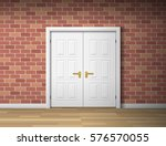 room interior with white door... | Shutterstock .eps vector #576570055