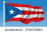 flag of puerto rico   vector... | Shutterstock .eps vector #576570064