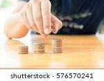 saving money concept preset by... | Shutterstock . vector #576570241