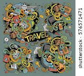 colorful vector hand drawn... | Shutterstock .eps vector #576571471