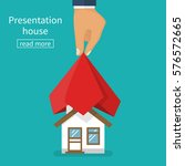 presentation house. house...   Shutterstock .eps vector #576572665