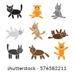 simple cats isolated on white.... | Shutterstock .eps vector #576582211