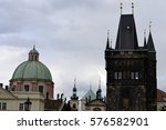 architecture from prague with... | Shutterstock . vector #576582901