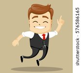 vector businessman gives thumb... | Shutterstock .eps vector #576586165