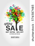 spring sale banner  with... | Shutterstock .eps vector #576587485