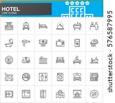hotel services and facilities... | Shutterstock .eps vector #576587995