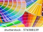 color wheel for choosing paint... | Shutterstock . vector #576588139