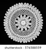 traditional lace work | Shutterstock . vector #576588559