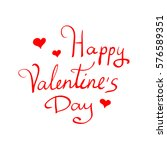 happy valentines day vintage... | Shutterstock . vector #576589351