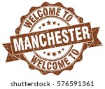 manchester. welcome to... | Shutterstock .eps vector #576591361